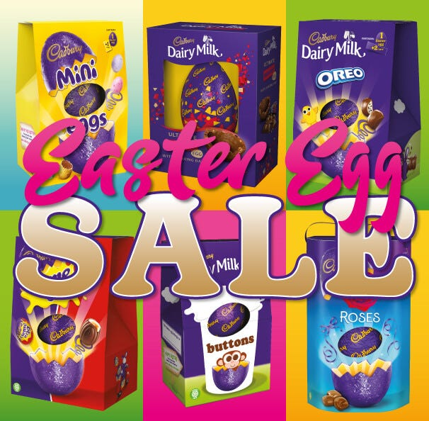 Cadbury Chocolate Easter Eggs Sale