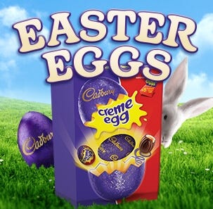 Easter eggs and easter egg gifts