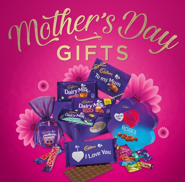 Cadbury Mother's Day Gifts