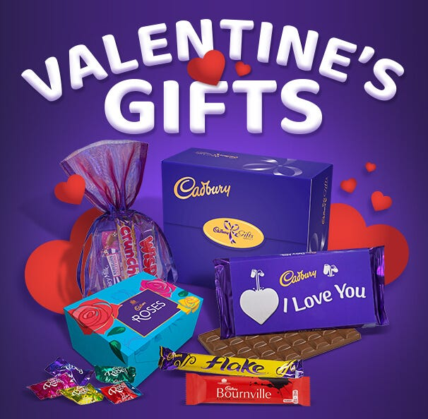Cadbury Valentine's Day Chocolate Hampers