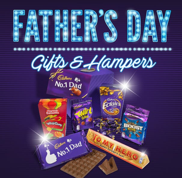Cadbury Chocolate Father's Day Gifts