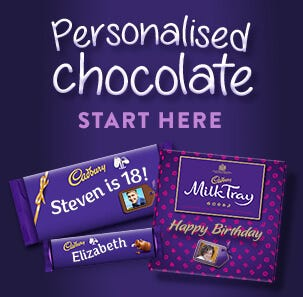 personalised chocolate image