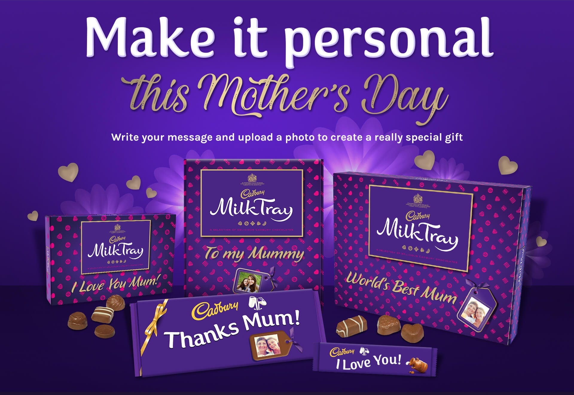 Make it personal with Cadbury Personalised Chocolates for Mother's Day