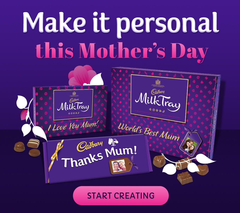 Cadbury personalised chocolate for Valentine's Day