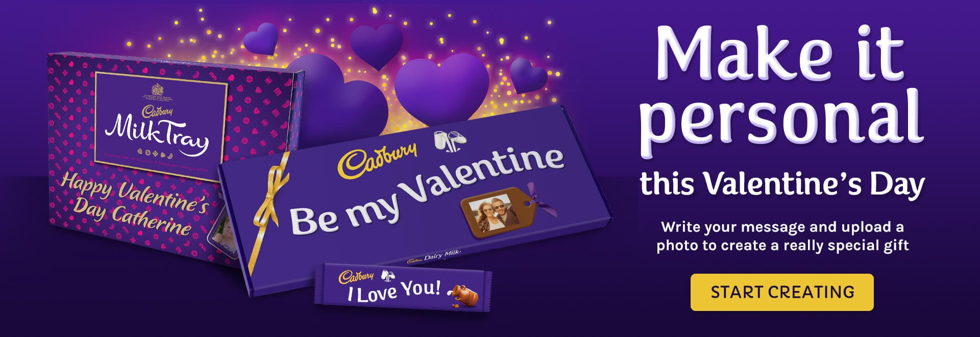 Cadbury personalised chocolate, create a unique gift for Valentine's Day