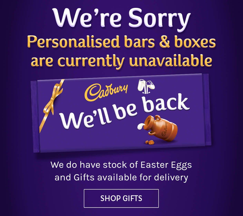 Cadbury personalised chocolate