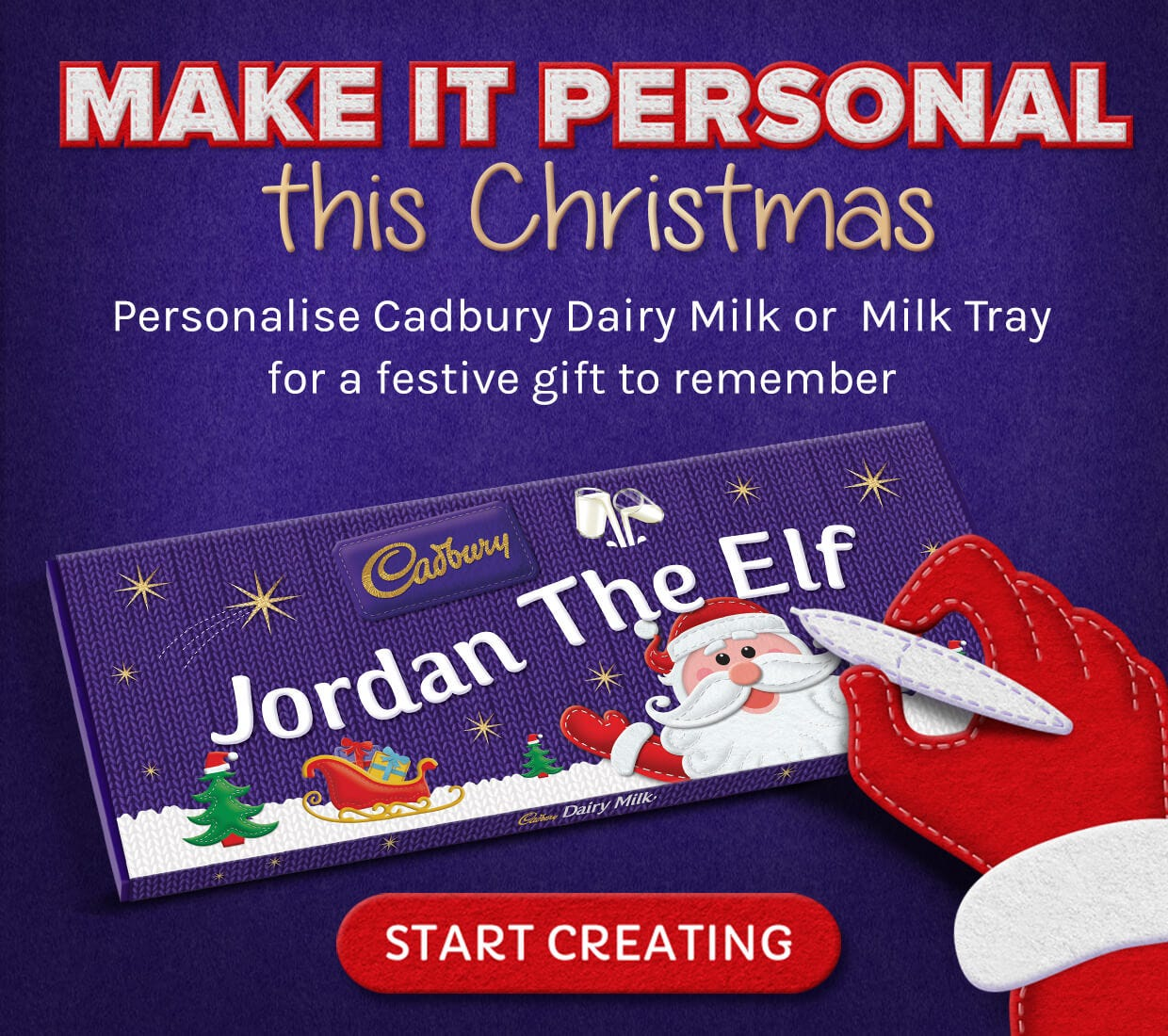Cadbury Personalised Chocolate for Father's Day