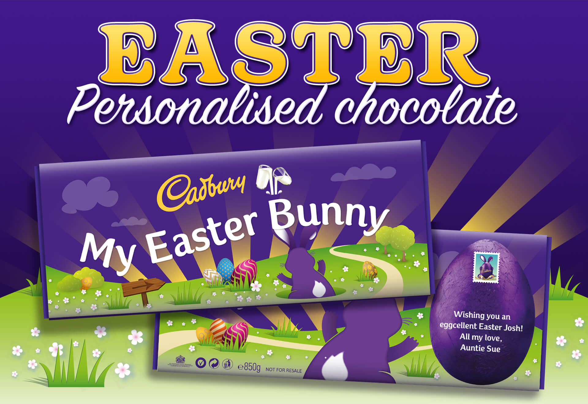 Cadbury Easter personalised chocolate, create something unique