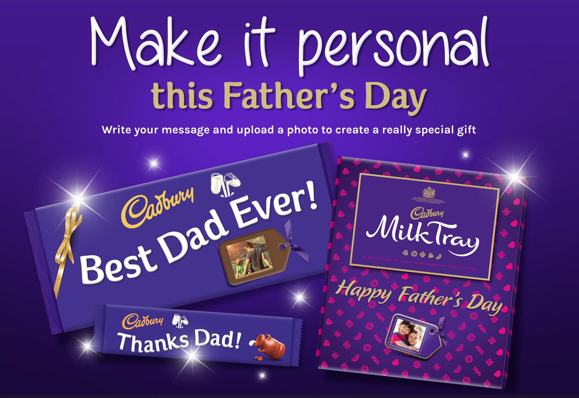 Make it personal with Cadbury Personalised Chocolates this Father's Day
