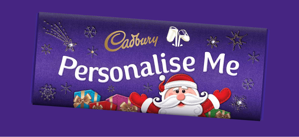 Make it personal with Cadbury Personalised Chocolates this Christmas